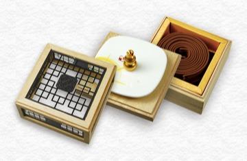 黃金琦楠4H盤香花窗三層盒