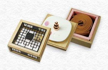 花之賞4H盤香花窗三層盒