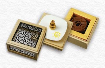 黃金琦楠2H盤香花窗三層盒