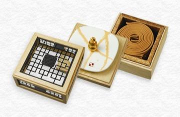 禪之賞4H盤香花窗三層盒