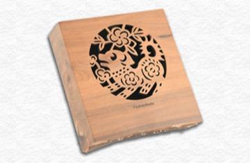 台灣檀香木3.5H隨型盤香爐-地(旺財)限量款